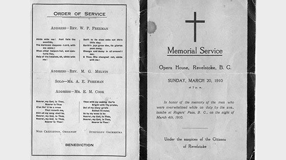 Photo of black and white Order of Service booklet.